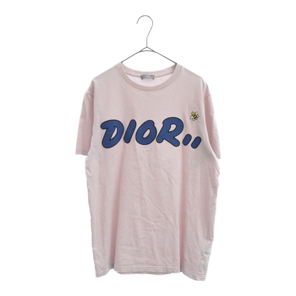 ×KAWS カウズ BEE刺繍ロゴプリント半袖Tシャツ