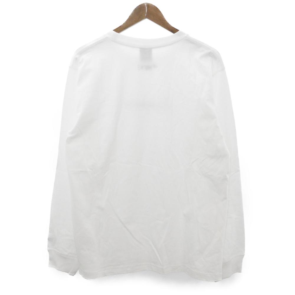 ×NEW ERA Edition Cotton Long Sleeve T-Shirt ×ニューエラ シグネチャープリントクルーネック長袖カットソーTシャツ