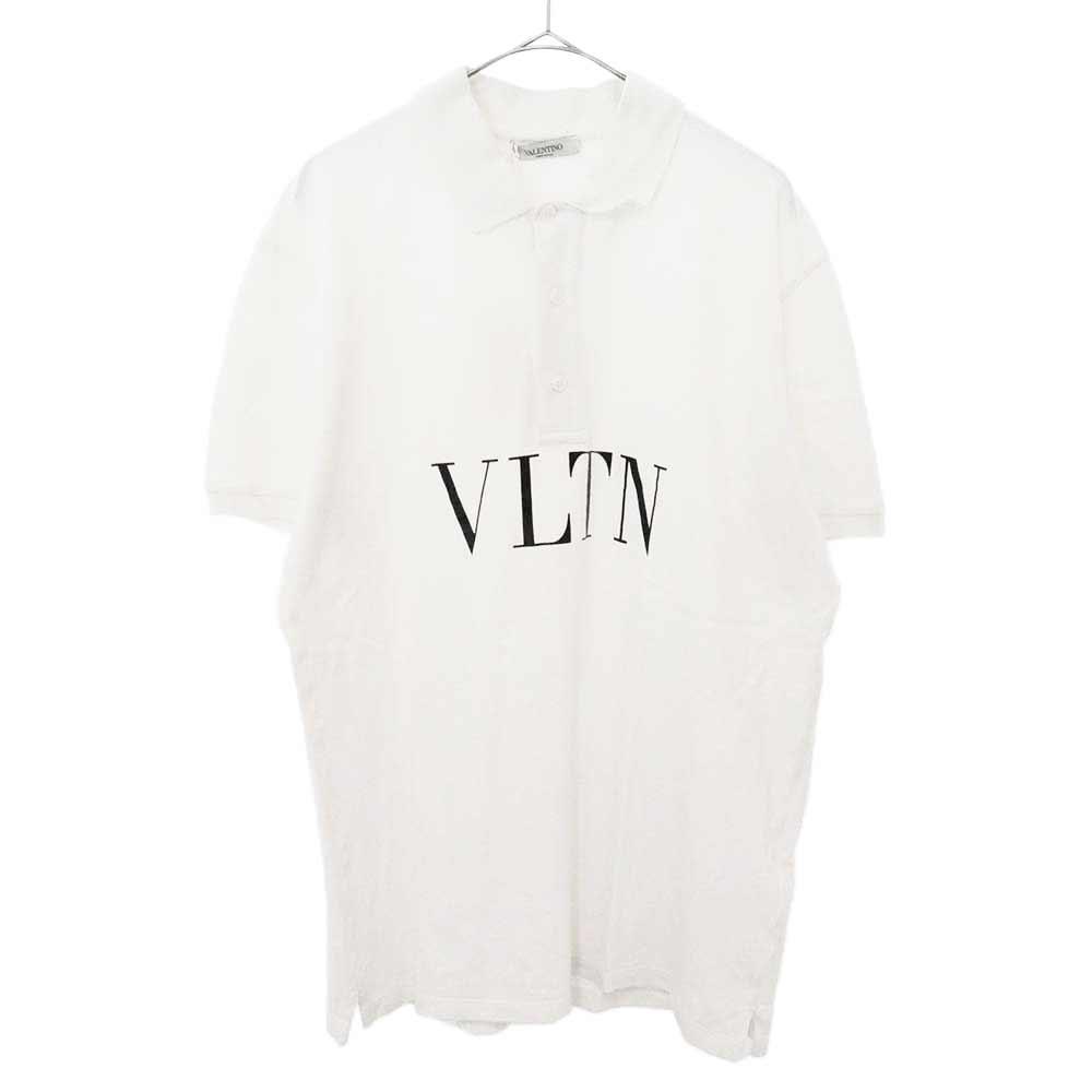 フロントロゴプリント 半袖ポロシャツ