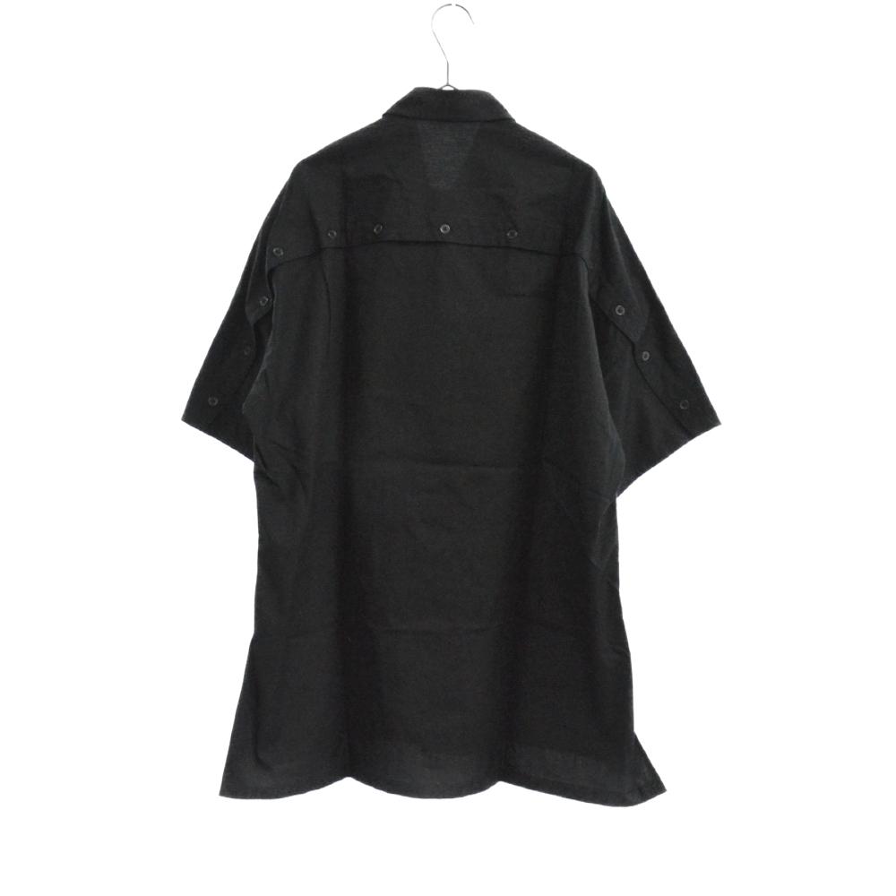バックボタンデザイン切替オーバーサイズ半袖シャツ NH-B52-001-2A