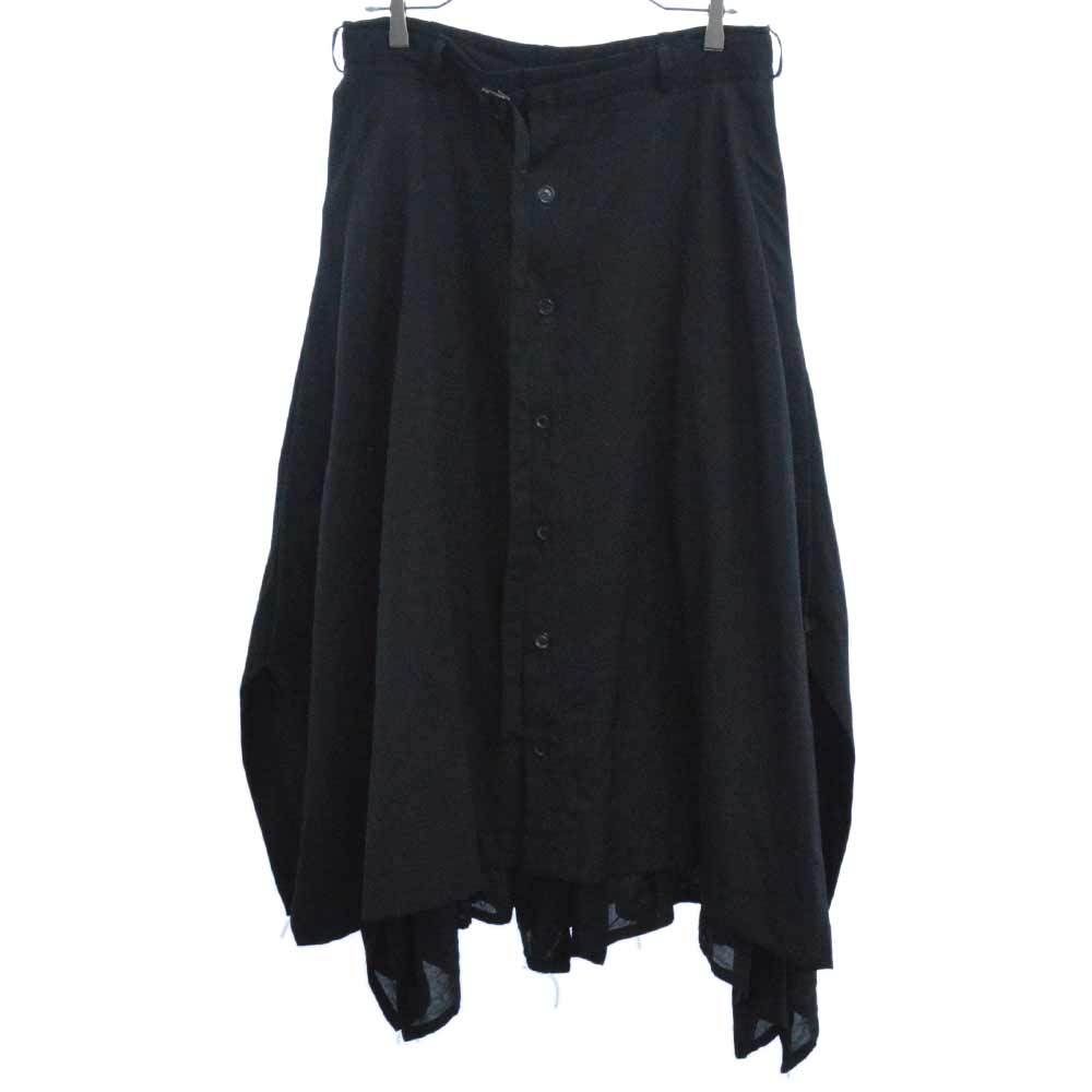 Wool Waist Belt Skirt サイドジップギャバジン混テンセル切替ウェストベルトスカート HV-S12-806