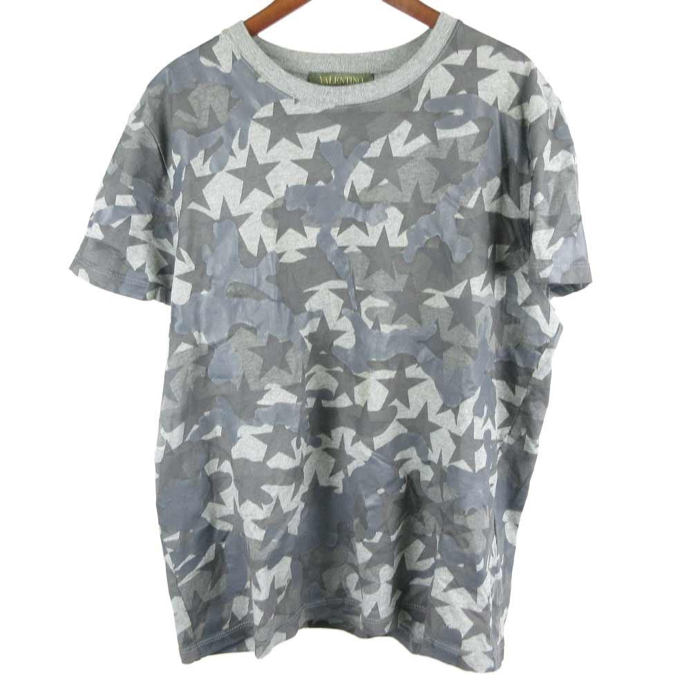 カモフラ総柄スタープリントスタッズ付きクルーネック半袖TシャツMV3MG00W3T7