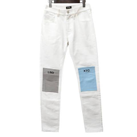 Regular fit jeans with patches レギュラーパッチデニムパンツ