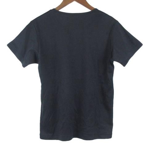 クルーネック裾ロゴプリント半袖コットンTシャツ