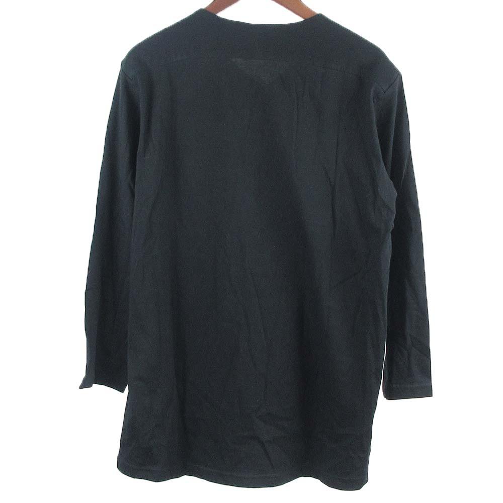 LONG PULLOVER SHIRT 襟切替7分袖コットンヘンリーネックラグランシャツ