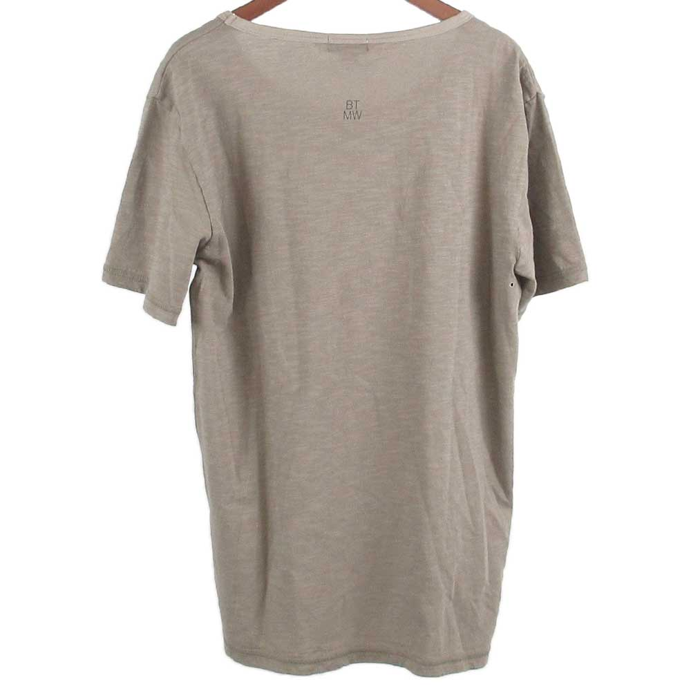 無地コットンラウンドネック半袖カットソー Tシャツ