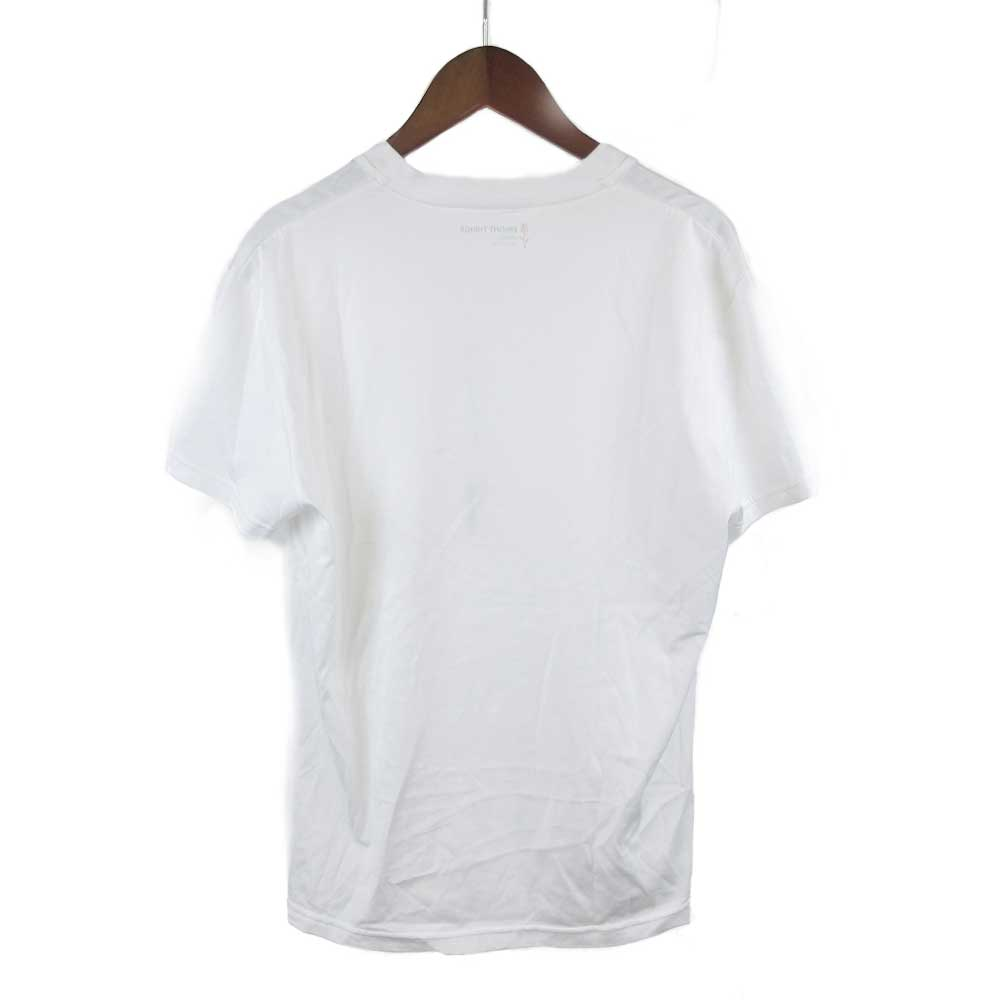 胸元ローズ ワンポイント刺繍Vネック半袖カットソー Tシャツ