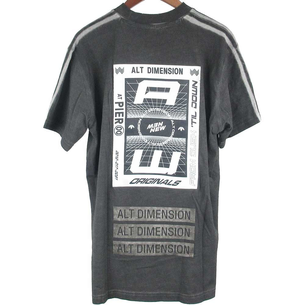 ×ALEXANDER WANG アレキサンダーワン ブリーチ加工 ロゴプリント半袖Tシャツ