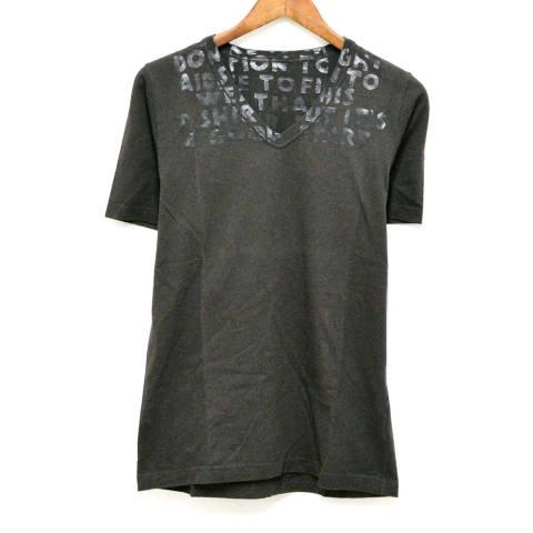 エイズTシャツ 半袖Tシャツ/ブラック カットソー