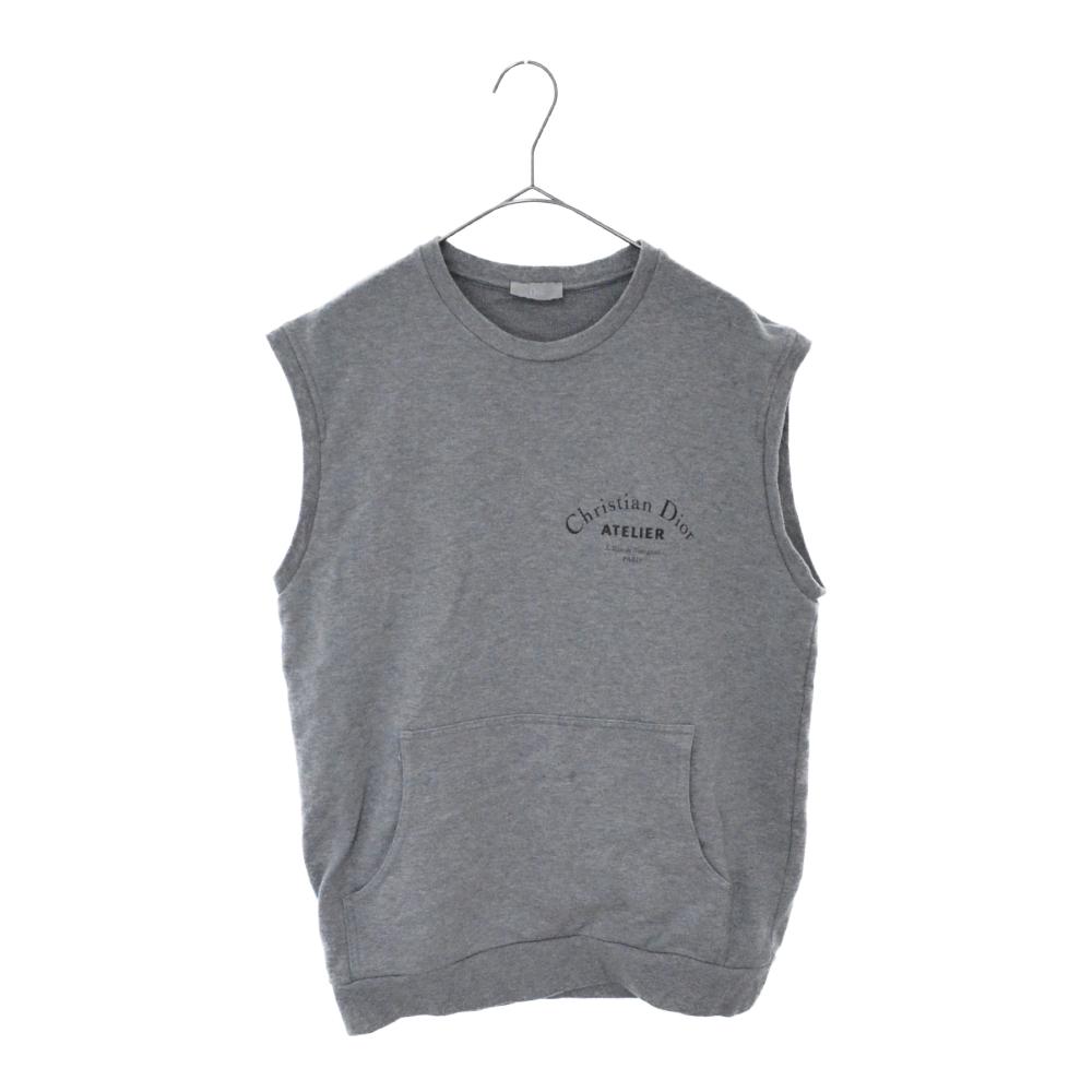 ノースリーブクルーネックスウェット Tシャツ