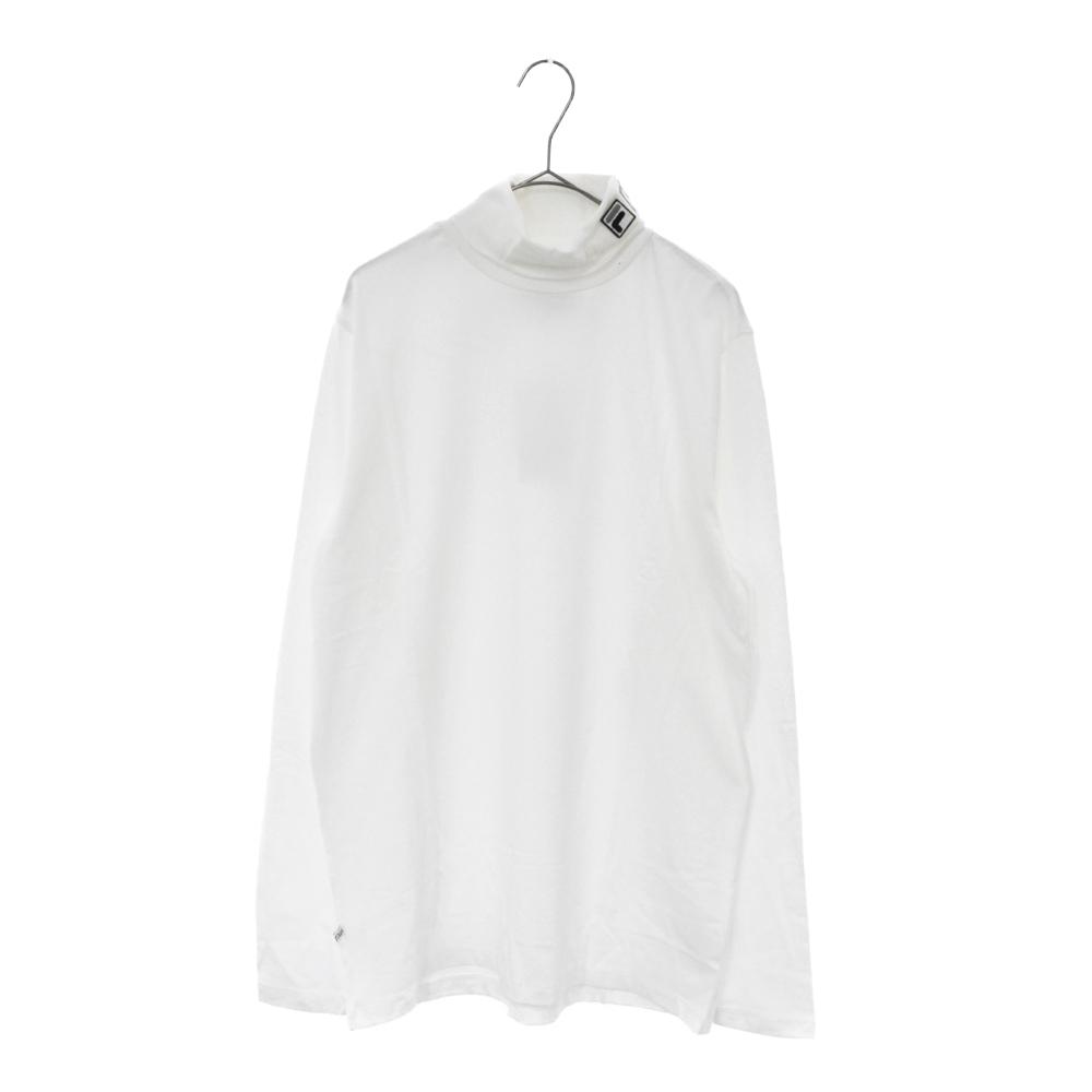 ×FILA Roll Neck T-Shirt ロゴ刺繍タートルネックロンT