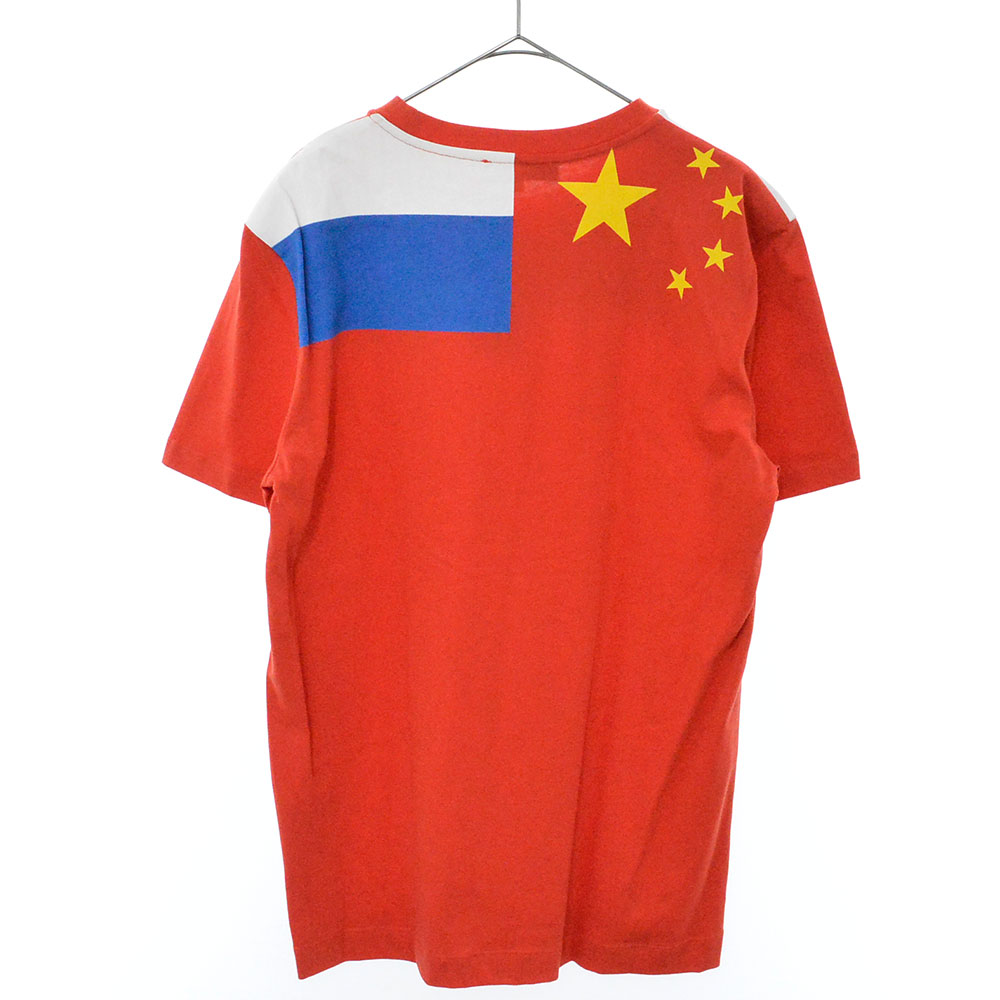 FLAGPRINT T-SHIRT 国旗 プリント クルーネック Tシャツ
