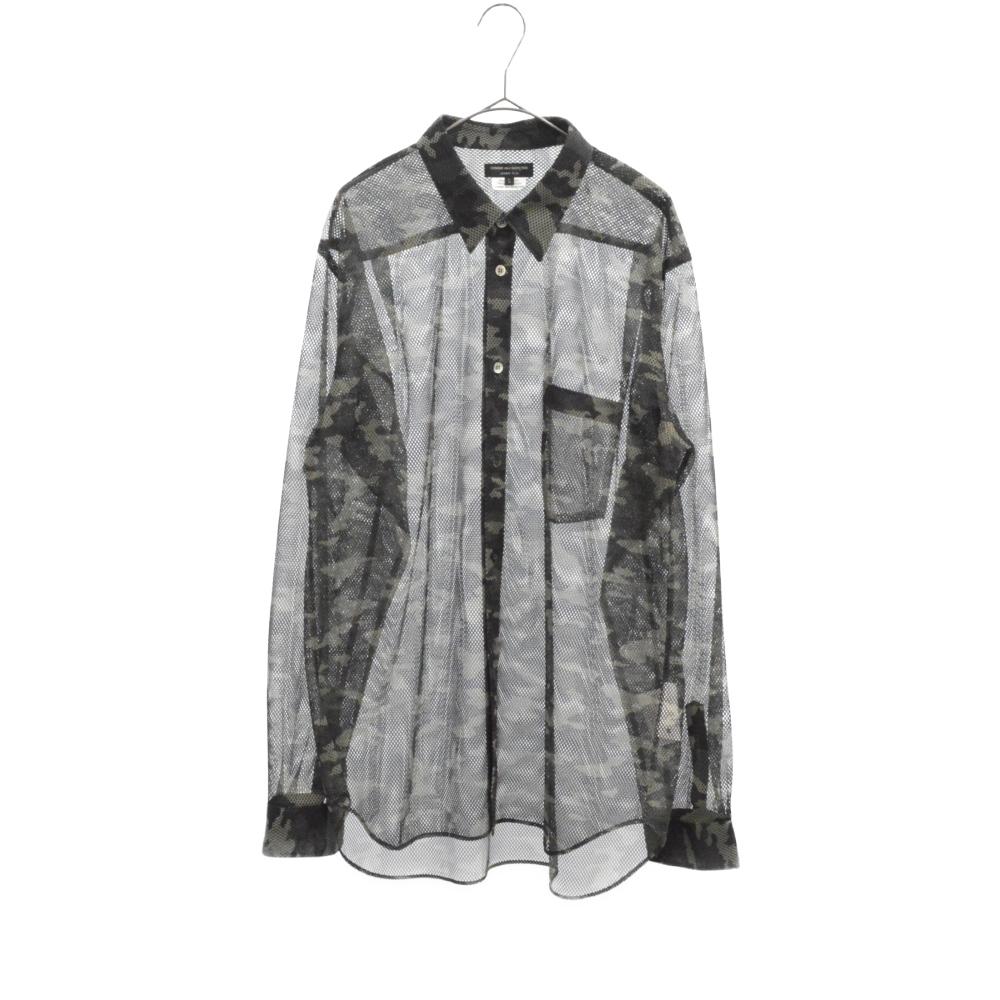 カモフラージュ柄メッシュ長袖シャツ PC-T018