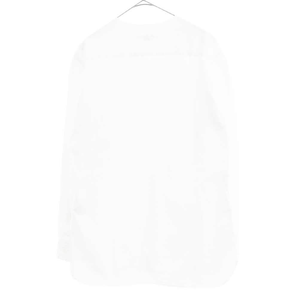 カットオフ ノーカラー長袖シャツ