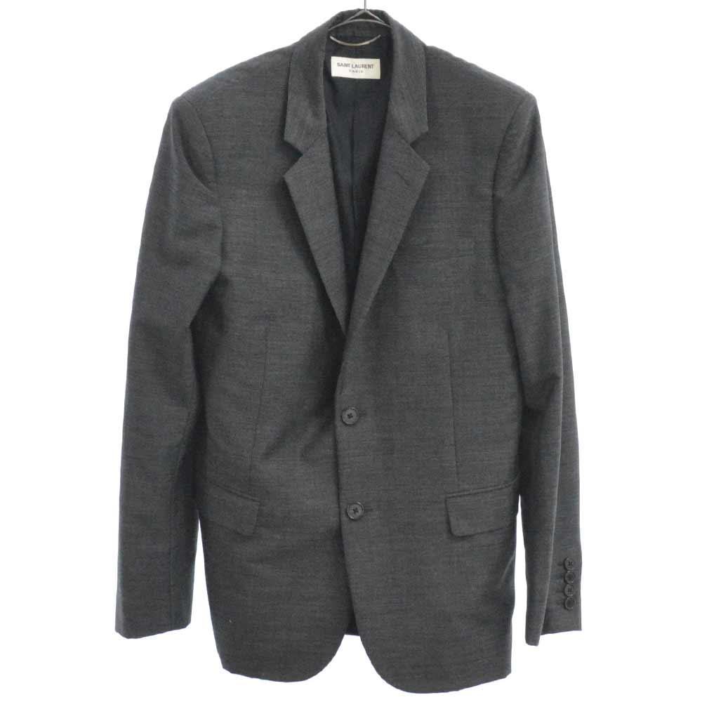 ウール混2Bセットアップスーツ グレー ジャケット パンツ