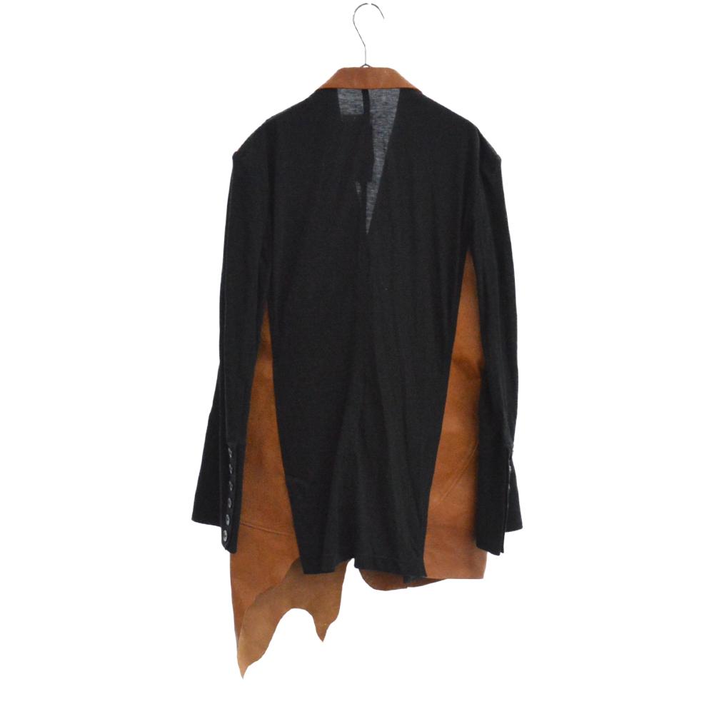 LOOK19 HH-J47-802-1-03 Jacket ゴートレザー切替ショールカラージャケット コート