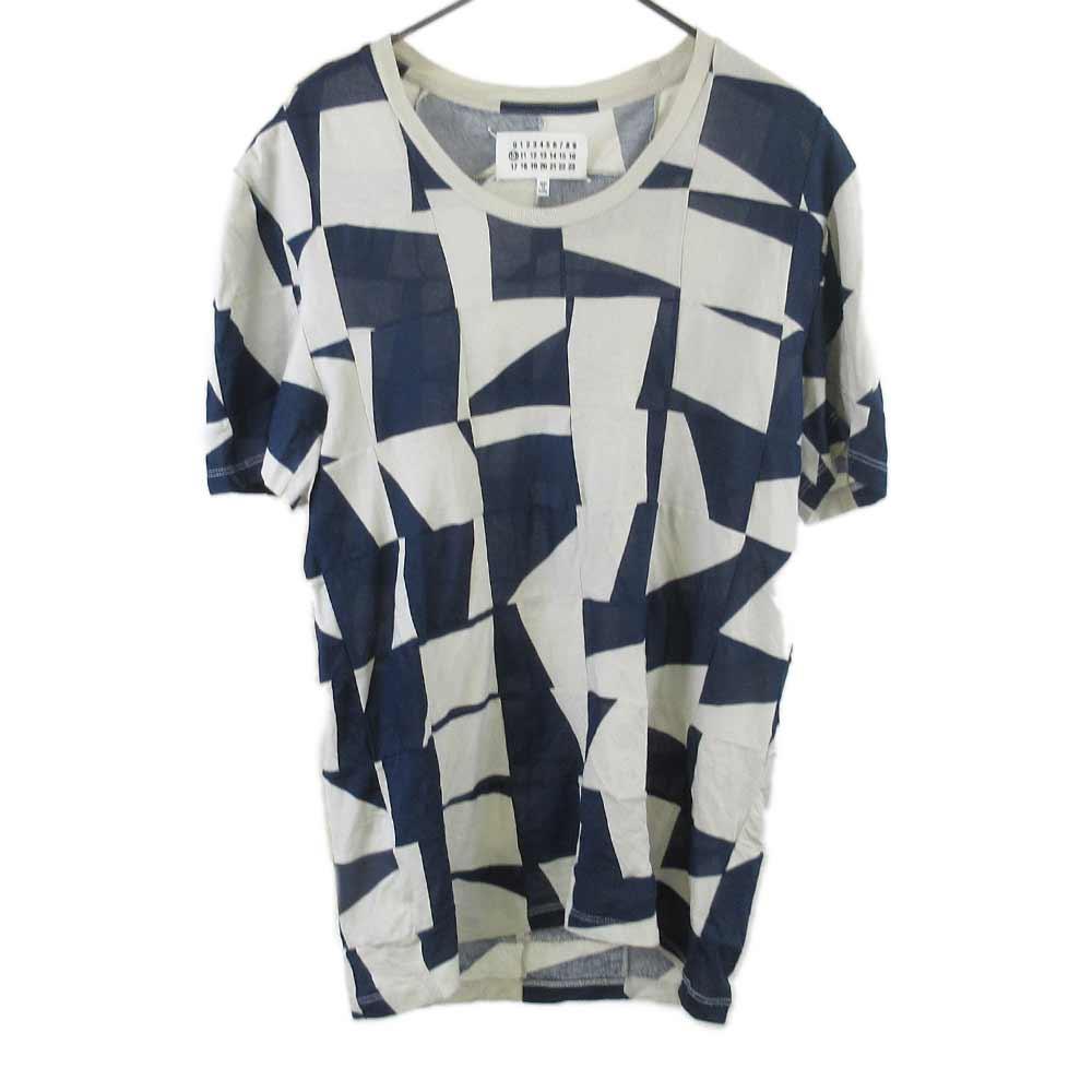 パッチワーククルーネック半袖Tシャツ/アイボリー カットソー S21595
