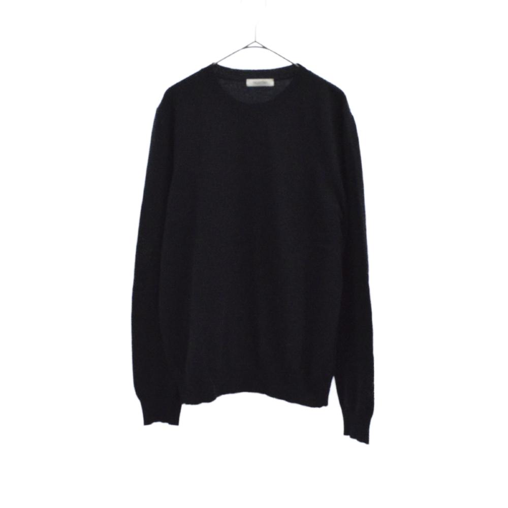 カシミヤクルーネックニットセーター