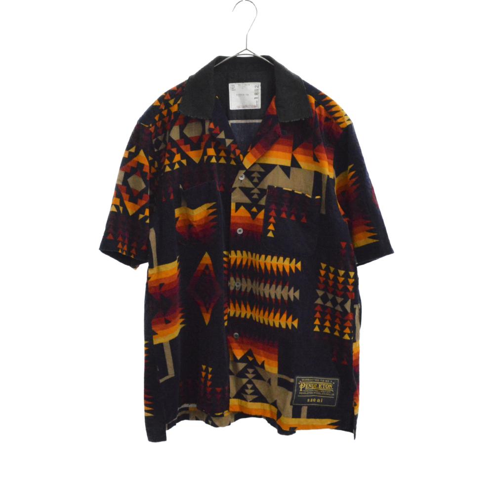 ×PENDLETON ネイティブ柄切替半袖シャツ