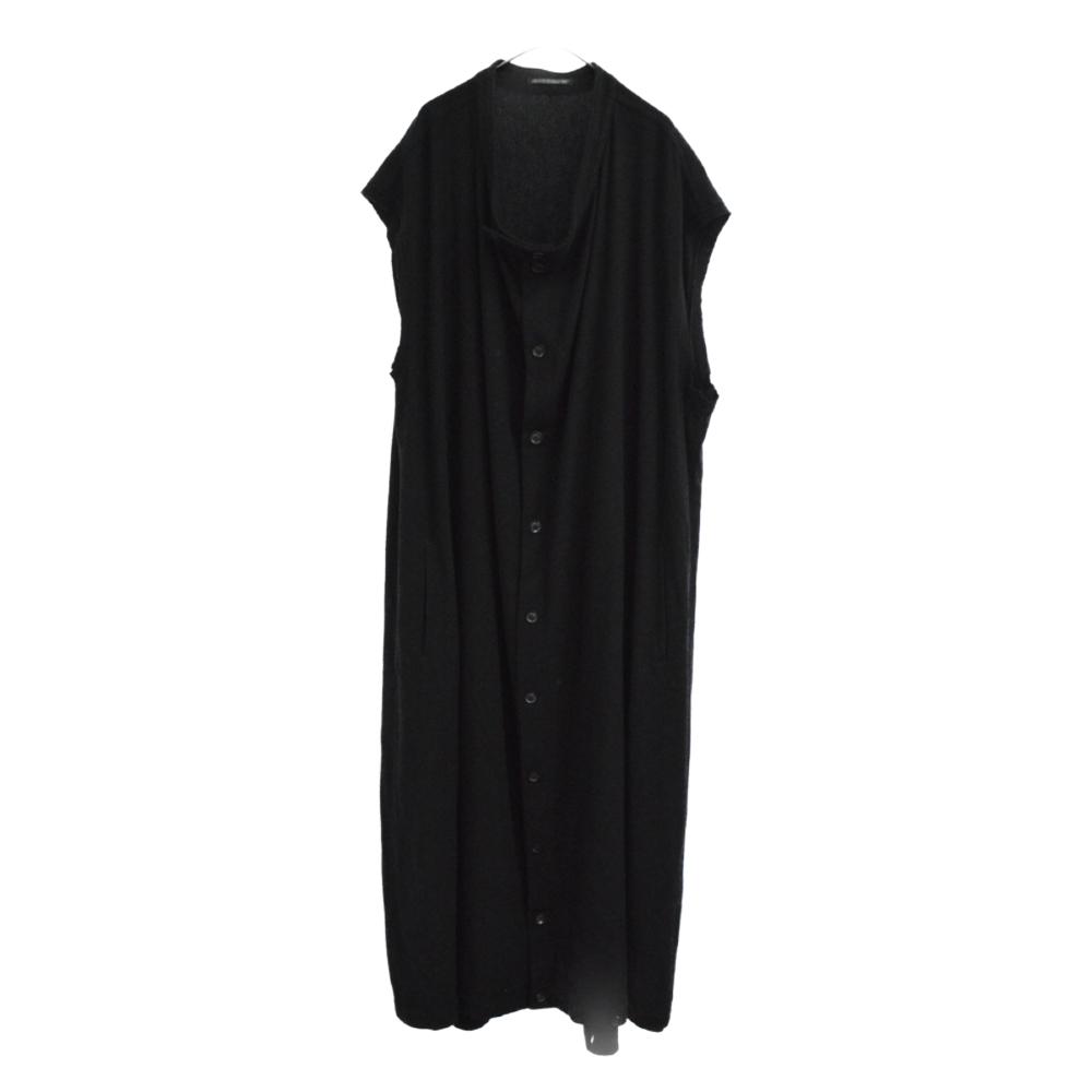 LOOK29 ウールロングジレベスト ノースリーブドレス