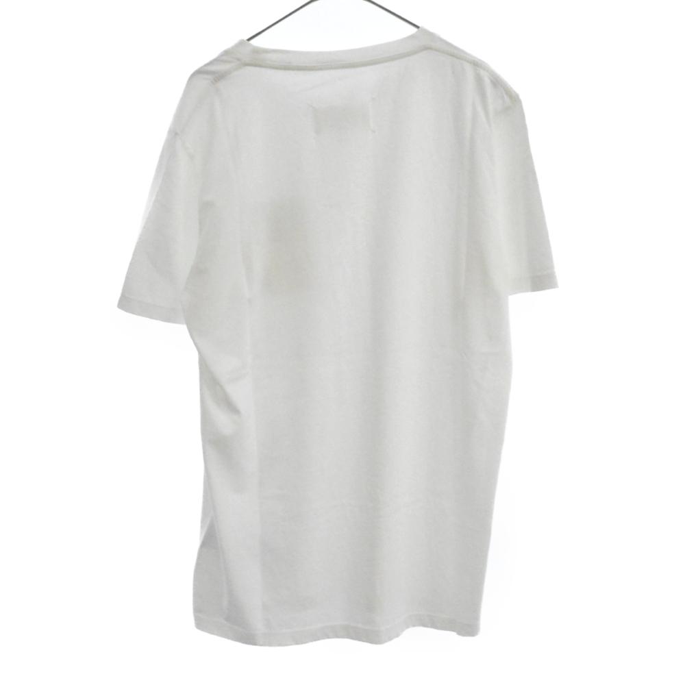 STEREO TYPE ステレオタイプ フロントワッペン 半袖クルーネックTシャツ カットソー ホワイト