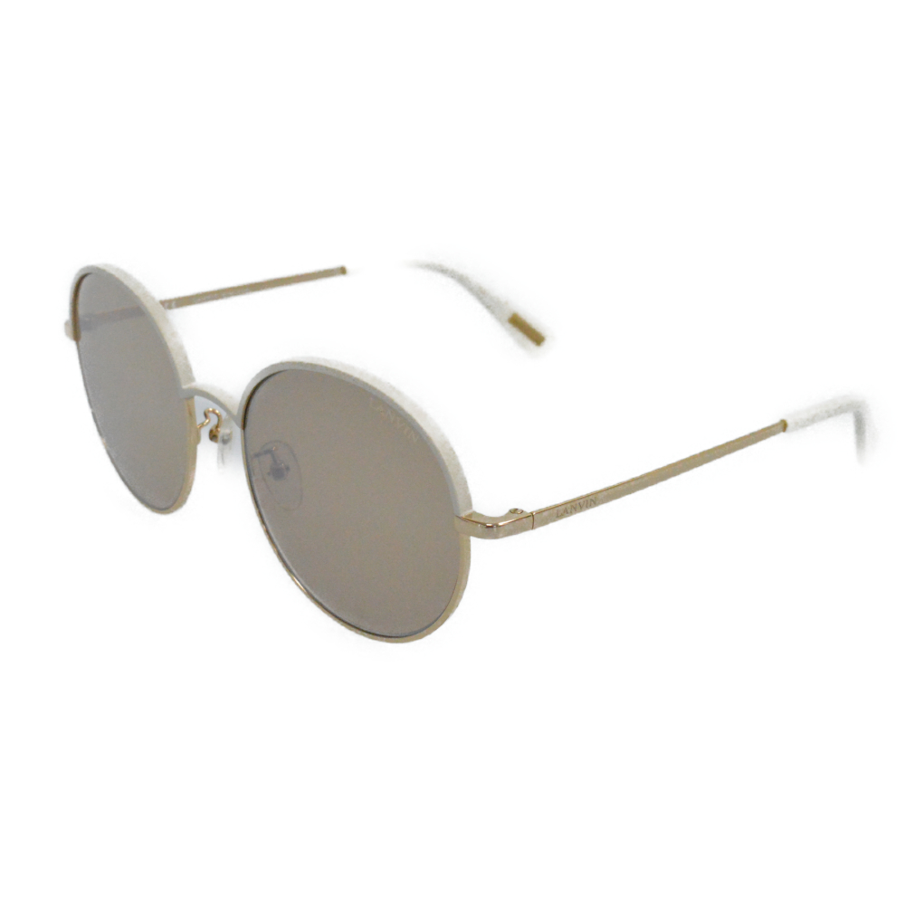 SLN 100G メタルコンビフレームサングラス ホワイト/ゴールド 眼鏡/アイウェア