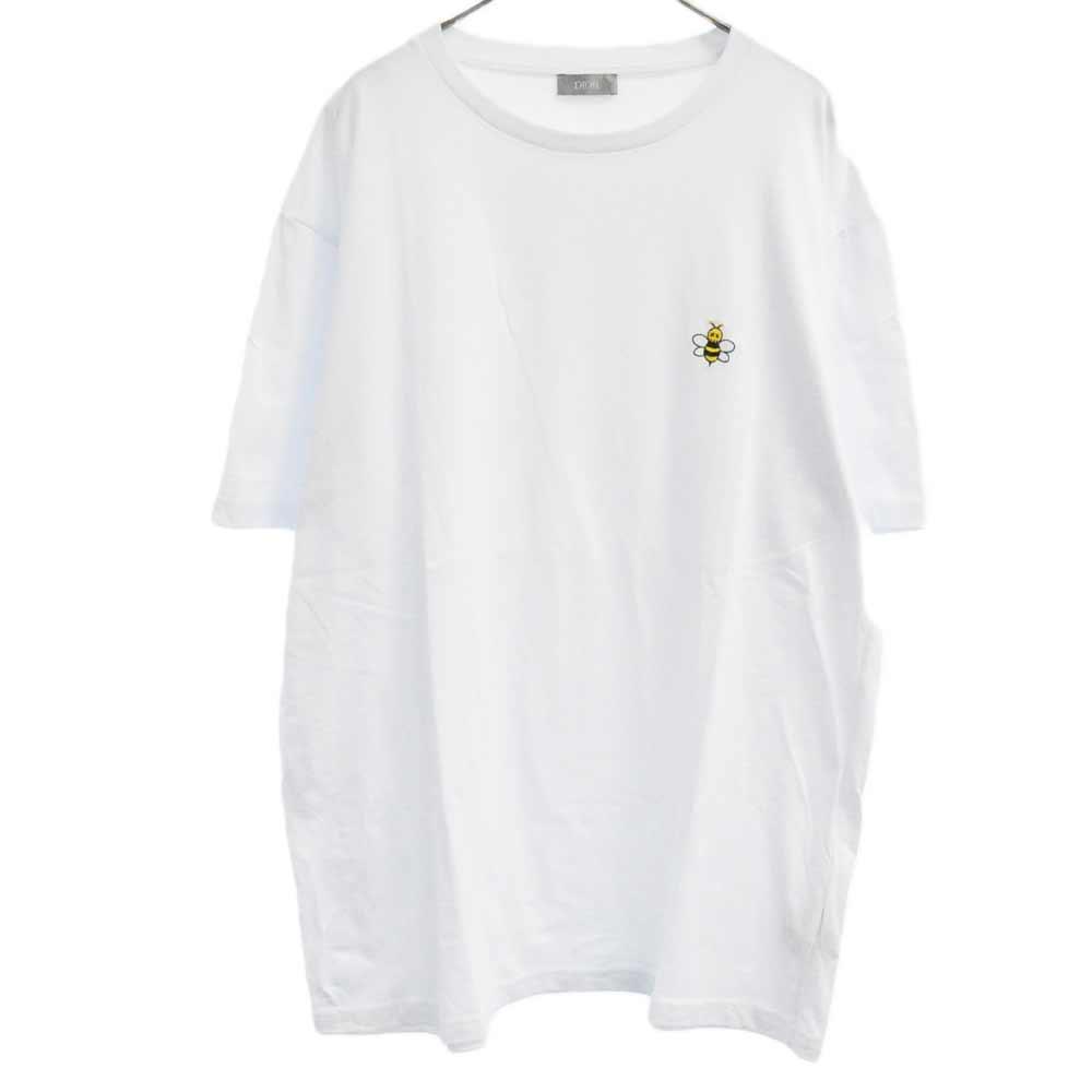 ×KAWS BEEロゴ刺繍半袖Tシャツ
