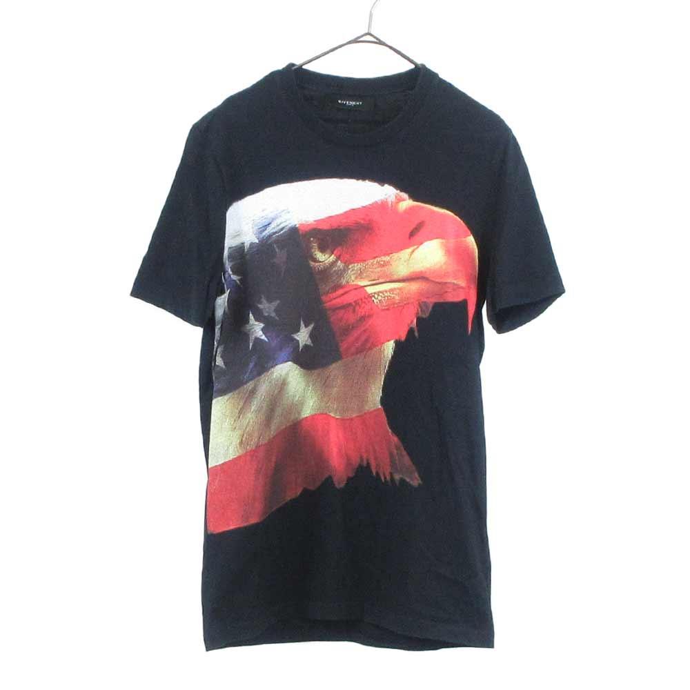 イーグルアメリカンフラッグプリント 半袖Tシャツ