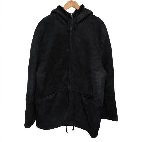 SEASON5 ロング丈ムートンコート スウェードレザージャケット