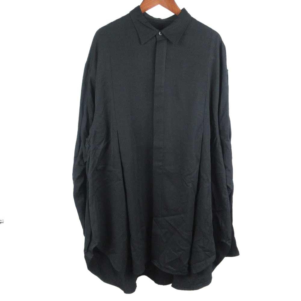 TUCKED WIDE SHIRT レーヨンワイドシャツ 647SHM2