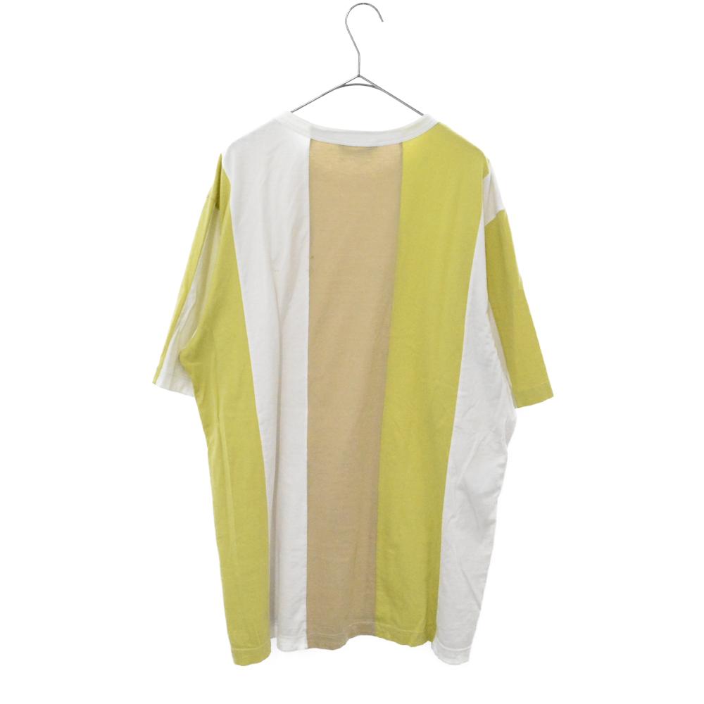 ストライプ切替 バイカラー 半袖Tシャツ