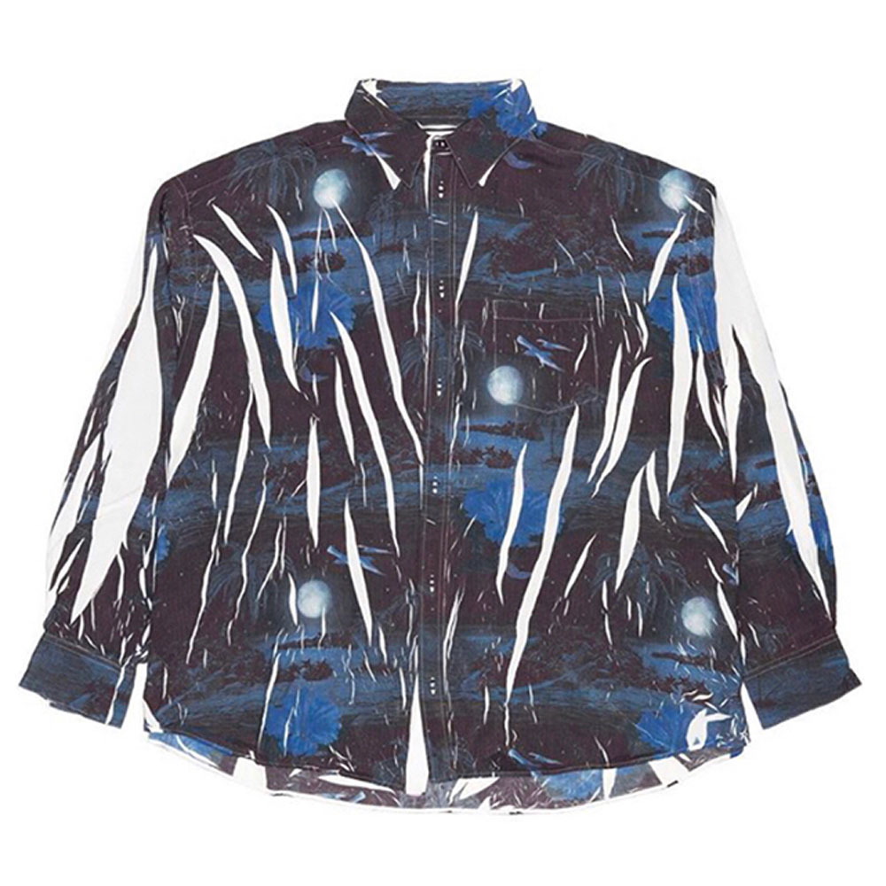 COMPRESSED ALOHA SHIRT IN THE HANGER MOLD レーヨン混長袖アロハシャツ 12SH60