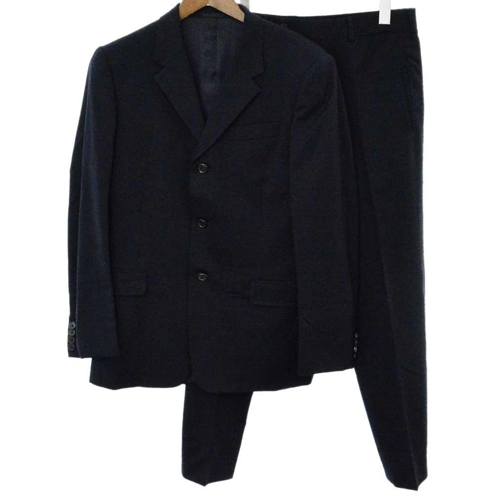 ストレッチウールセットアップスーツ 3Bテーラードジャケット スラックスパンツ