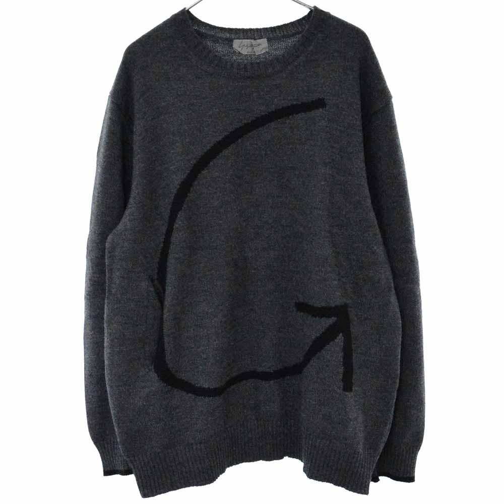 アロージャガード柄クルーネックニットセーター HN-K18-188