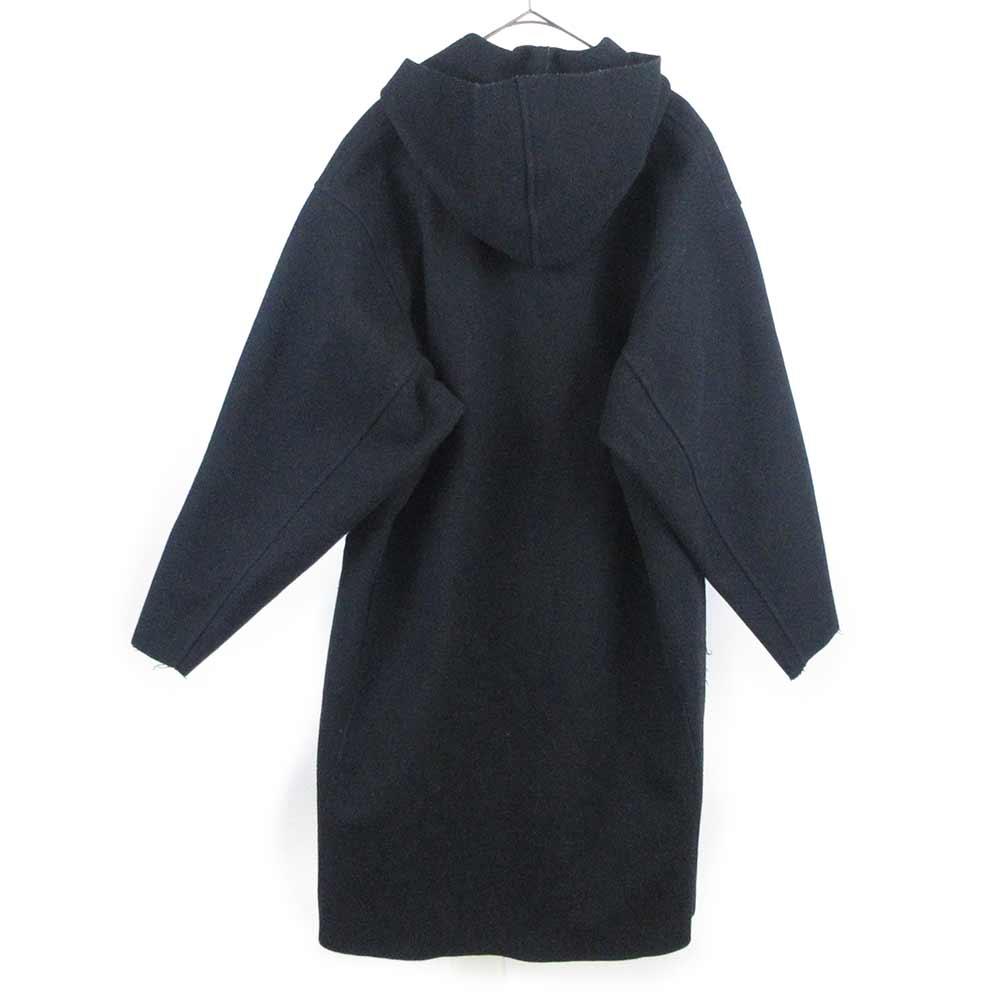 メルトン フーデット ロング コート ジャケット
