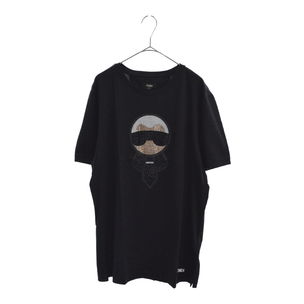 Karl Loves Fendi T-shirt カールラガーフェルドラブスタッズ半袖Tシャツ