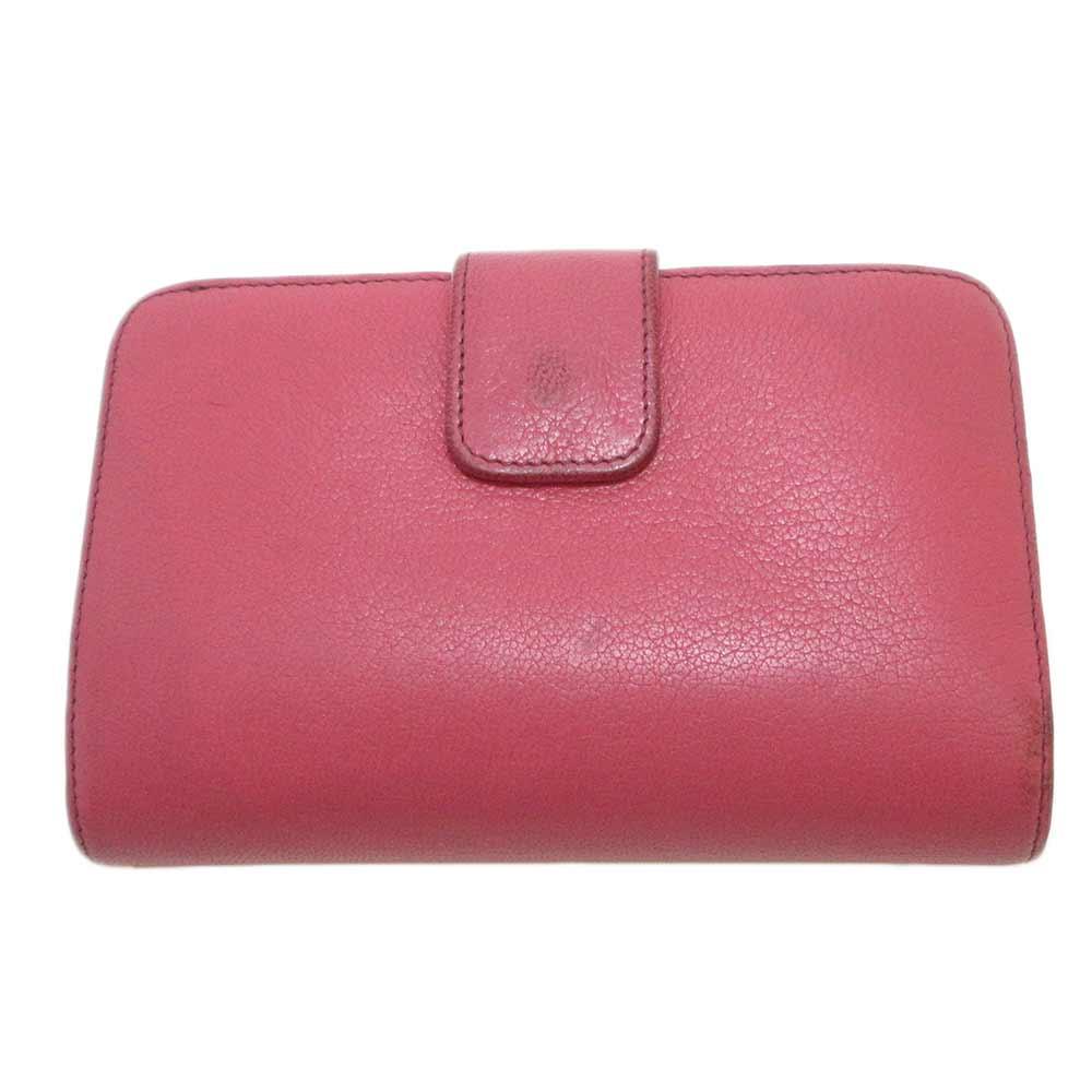 メタルプレートロゴ二つ折りレザーウォレット 財布