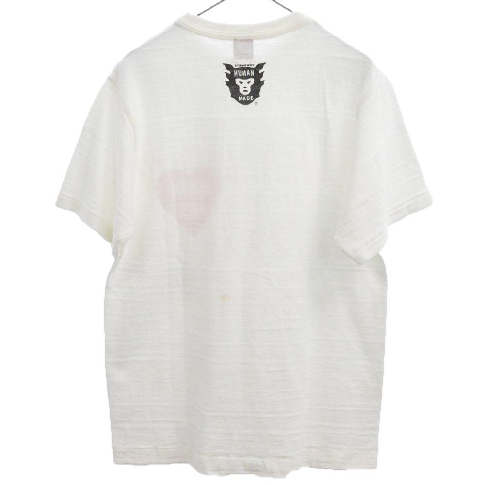 フロントワンポイントプリントクルーネック半袖Tシャツ