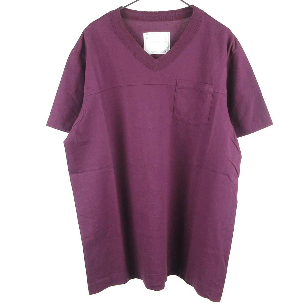 ポケット付きVネッツク半袖Tシャツ