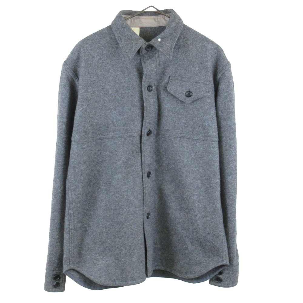 ツイード地シャツジャケット
