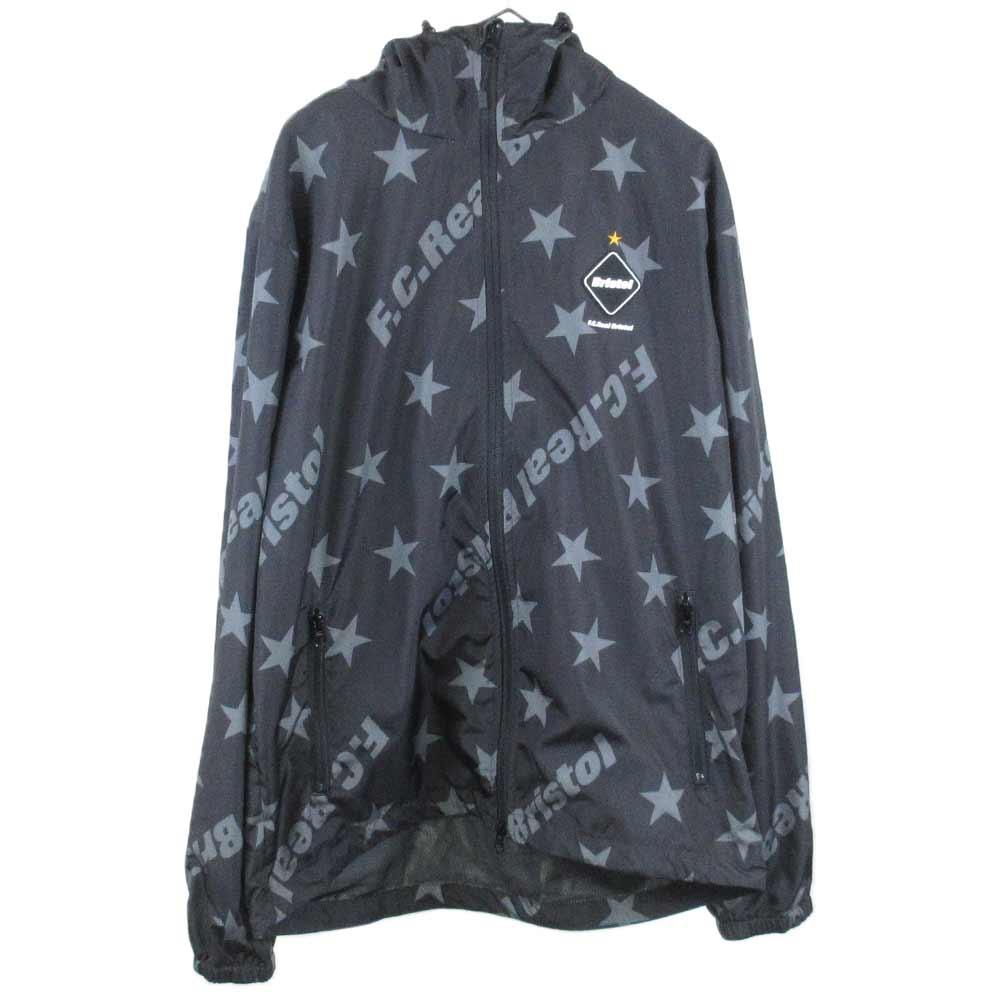 STAR WARM UP JACKET ロゴ&スター総柄プリントジップアップジャケット