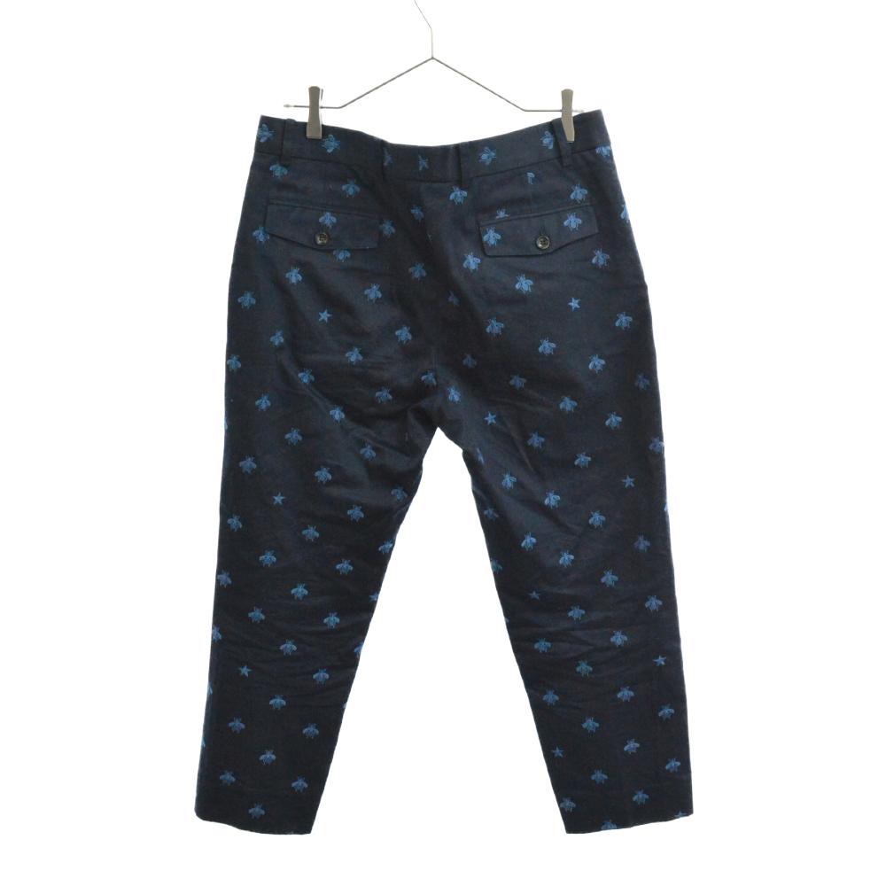 BEE&スター総柄刺繍スラックスパンツ