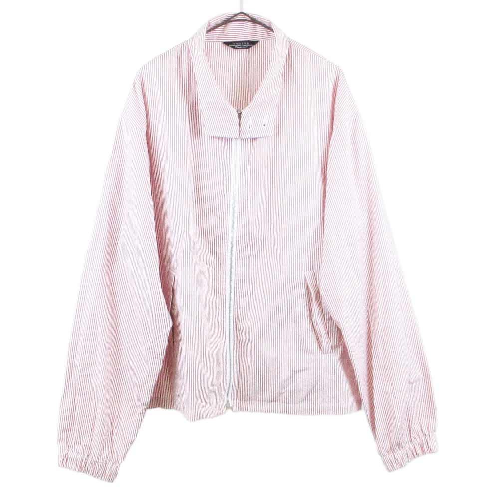 Stripe cotton jacket ストライプ ジップアップジャケット ブルゾン 1564