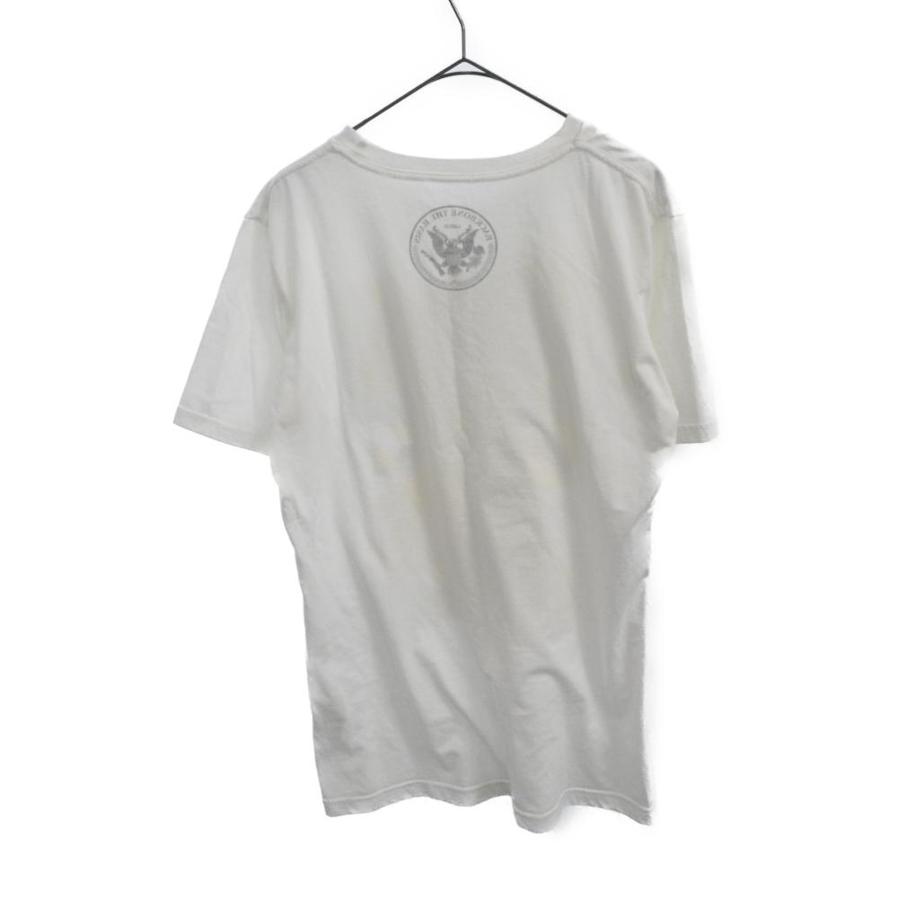 スカルライダープリント半袖Tシャツ