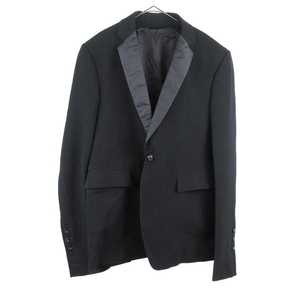 tuxedo jacket ノッチドラペルサテン1Bテーラードジャケット タキシード RU18F1737