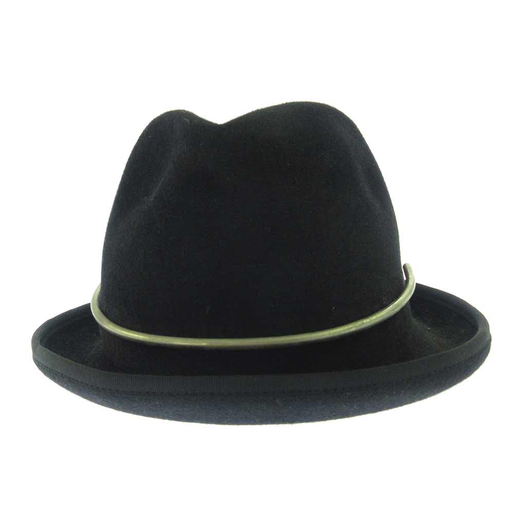 金具付きウールハット 帽子