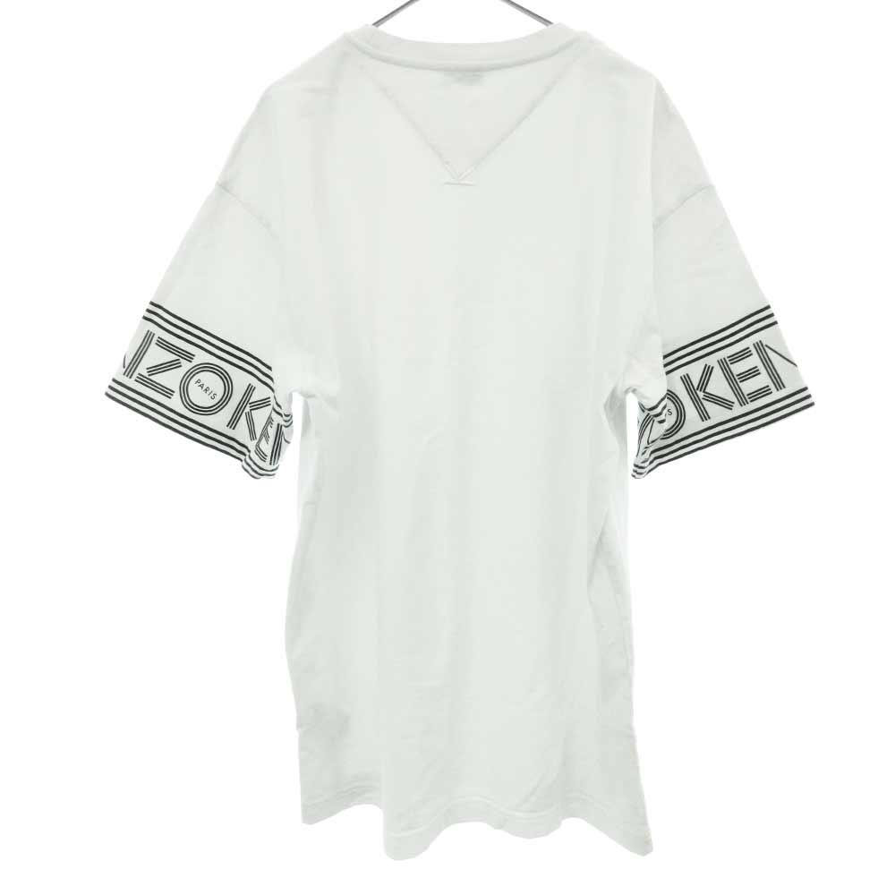 袖プリントクルーネック半袖Tシャツ