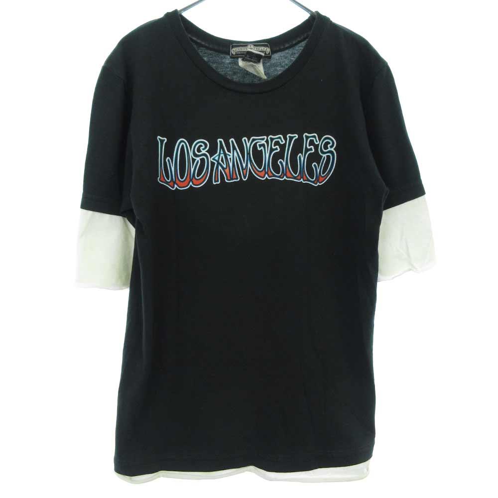 LOS ANGELSプリントレイヤード半袖Tシャツ