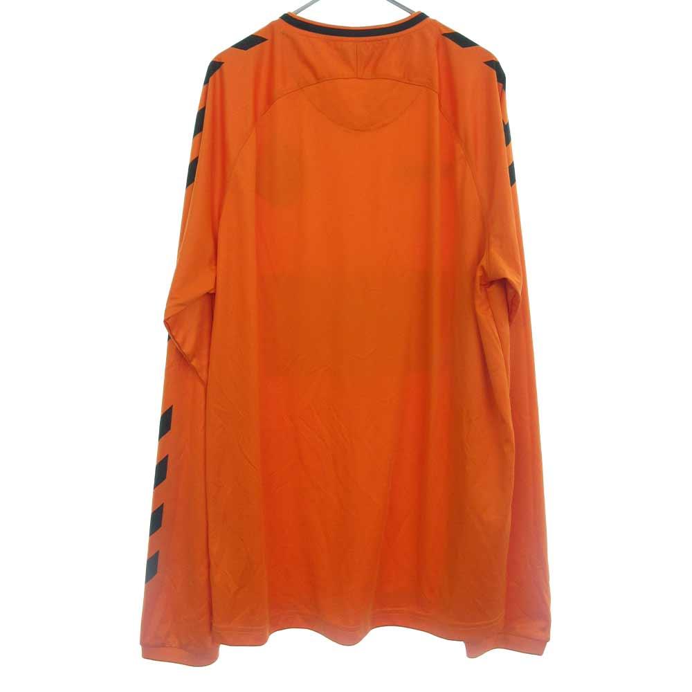 ×HUMMEL ヒュンメル エンブレムデザイン 長袖ゲームシャツ ジャージ ロングTシャツ