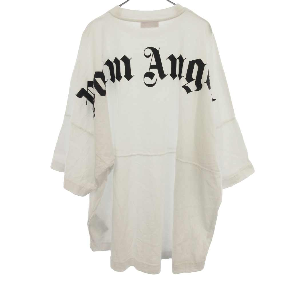 バックロゴプリントオーバーサイズ半袖Tシャツ